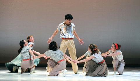 Pittsburgh Ballet Theatre dancers in Paul Taylor's Company B