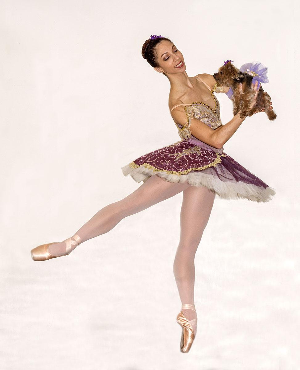Dancer Amanda Farris and her dog Nina will be participating in Saturday's PAWS de Tutu PAWrade photo: Bilha Sperling