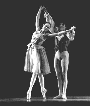 Gina Ness and Alexander Topciy in Airs de Ballet (1984). Photo by Marty Sohl.