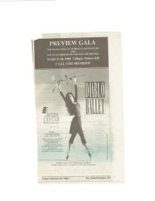 1994 Diablo Ballet ad